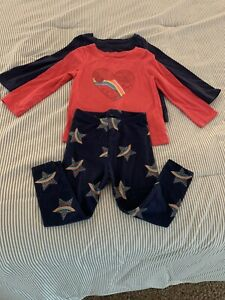 3 Pack Cat & Jack Long Sleeve Tees and Leggings Size 2T