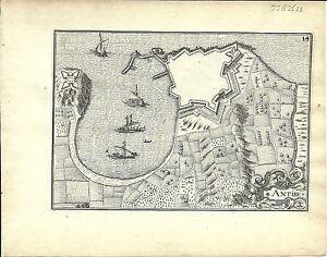 Antique map, Antibes