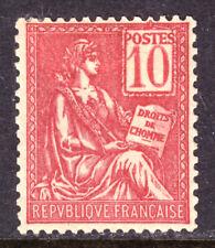 FRANCE #116a 10c CARMINE, 1900, F, OG-HINGED