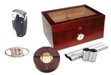 Milano Glass Top Cigar Humidor Kit Gift Set