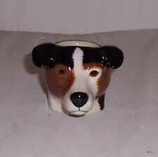 QUAIL Smooth Jack Russell Tricolour Faced Egg Cup NEW