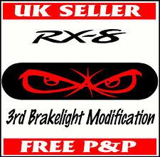 MAZDA RX-8 BRAKE LIGHT STICKER CAR VINYL RX8 EYES FEAR