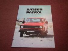 January 1982 DATSUN Nissan PATROL SWB / LWB BROCHURE