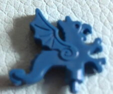 LEGO x47 @@ Minifig, Plume Dragon @@ BLUE @@ BLEU