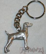 Weimaraner Dog Fine Pewter Keychain Key Chain Ring New