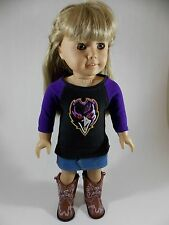 Baltimore Ravens Tee T- Shirt for American Girl & other 18-inch Dolls #2