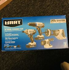 Hart HPCK402B Cordless 4-Tool Combo Kit OPEN BOX/IN NEW CONDITION