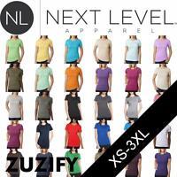 Next Level Apparel Ladies Junior Fit CVC T-Shirt. 6610
