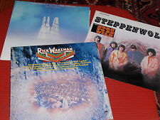 LOT OF 3 VINTAGE ROCK AND ROLL RECORD ALBUMS ALL THREE IN EXTREMELY GOOD COND.