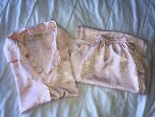 Victoria's Secret Vintage pajamas gold tag Size M Silky Womens pink pants / top