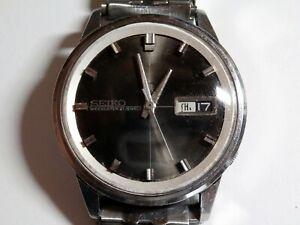 SEIKO 5 Sportsmatic Weekdater 21 Jewels Black Automatic Men's Watch