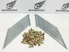 "Honda CB 350 K0 K1 K2 K3 K4 Speichensatz Speichen Vorne ""gelbe Nippel"" Repro"