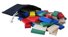 Rubert 200pc Wood Dominoes Tiles Wooden Domino Race Game Set in 5 Colors, New