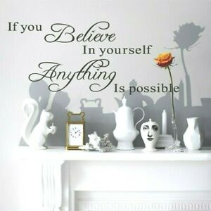 If You Believe in Yourself Inspirational Quote Wall Vinyl Sticker Mirror Windows