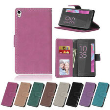 ID Slots Wallet Leather Flip Case Cover For Sony E4G Z3 Z5 Mini X XA M4 Aqua M5