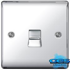 BG Nexus NPCBTS1 Polished/Mirror Chrome 1 Gang BT Telephone Slave Socket