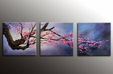 Canvas Wall Art Plum Tree Blossom Flower Canvas Print Artwork Modern Home Décor