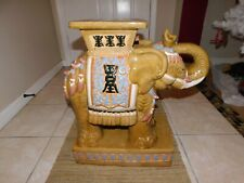 Vintage Ceramic Elephant Plant Stand / Side Table