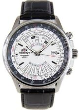 Orient Multi-Year Calendar FEU0700DWH White Dial Brown Leather Band Men's Watch