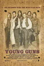 YOUNG GUNS Movie POSTER B 27x40 Emilio Estevez Kiefer Sutherland