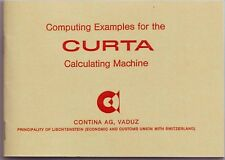 CURTA-Computing examples for the Curta Calculator (booklet in english language)