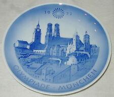 1972 Royal Copenhagen Denmark Porcelain Collector Plate, Munich Olympic Games