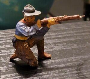 Vintage Elastolin  Cowboy~ Kneeling Shooting Rifle