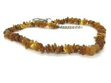 Raw Baltic Amber collar for dogs pet anti-flea anti tick 35-39cm unpolished#6685