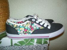 ANIMAL 'MARCY' GREY & FLORAL CANVAS TRAINERS - SIZE 4 WORN ONCE VGC