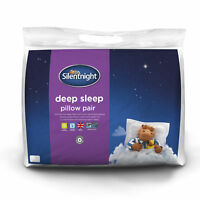 Silentnight Deep Sleep Pillows With Extra Hollowfibre Filling - 2 Pack