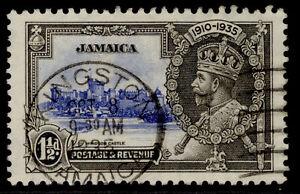 JAMAICA GV SG115, SILVER JUBILEE set, 1½d ultramarine & grey-black, FINE USED.