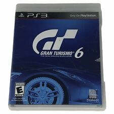 Gran Turismo 6 (Sony PlayStation 3, 2013) Case & Disc Works