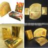 Golden Playing Cards Deck Gold Foil Poker Set Magic Plastic Durable Waterproof