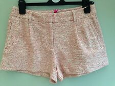 PAUL & JOE SISTER SHORTS SIZE 6 CREAM & RED FLECK LUREX THREAD BNWT