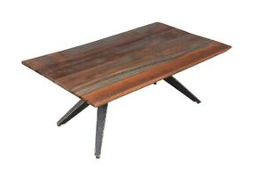 Handmade Modern Style Wooden and Iron Folding Coffee Table For Living Room