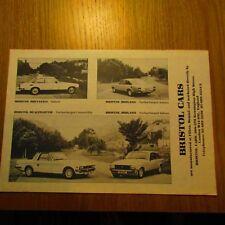 BRISTOL Brittania Brigand Turbocharged Beaufighter Convertible Brochure 1982