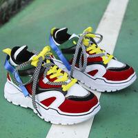 Damen Turnschuhe Laufschuhe Plateauschuhe Fashion Sneaker Sportschuhe Freizeit