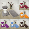 ROCK DESIGN 3PC BATHROOM SET SOFT COMFORT MEMORY FOAM BATH RUGS SOLID COLOR