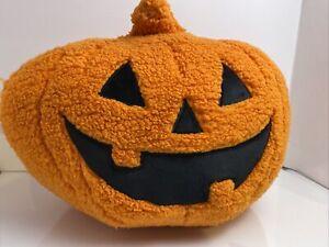 2021 Hyde Eek Decorative Pumpkin Sherpa Pillow Halloween Throw Toss Decor 16x16