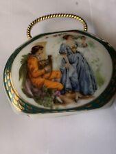Porcelain Trinket Minature Box