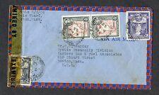 1943 British Guiana WWII Censored Cover to Boston,Mass
