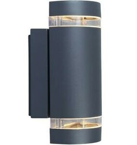 Lutec Focus Up & Down Exterior Wall Light Anthracite Grey Outdoor | 5604011118