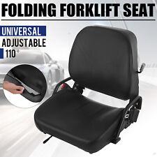 Universal Folding Forklift Seat Cat Clark Komatsu Nissan Yale Toyota Hyster NEW