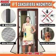 ZANZARIERA MAGNETICA PORTA FINESTRA CHIUSURA MAGNETI CALAMITA ANTI ZANZARE TENDA