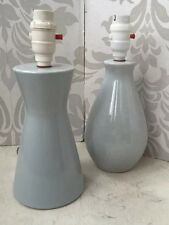 Vintage 1950's 1960's Pottery Lamp Bases Grey Modernist Retro