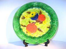 Decorative Majolica Pottery Dessert Plates