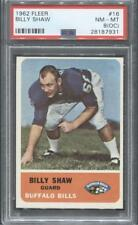 1962 Fleer Football #16 Billy Shaw RC (Bills)  PSA 8 (OC)  (Flat Rate Ship)