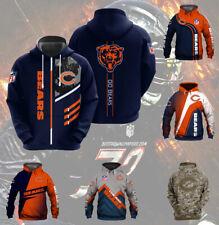 Chicago Bears Hoodies Football Hooded Sweatshirt Pullover 3D Print Coat Jacket