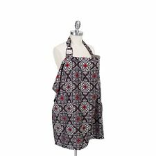 Bebe Au Lait Premium Cotton Breastfeeding Nursing Cover ALMALFI Gray Red Damask