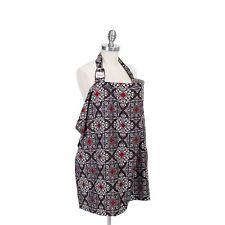 Bebe Au Lait Premium Cotton Breastfeeding Nursing Cover ALMALFI Gray Red Damask